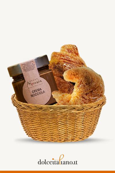 Box Colazione: 4 Croissant + Crema spalmabile alla nocciola di Mauro Morandin kg 0,40