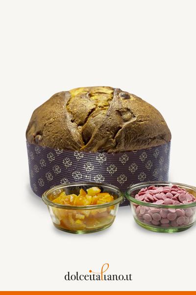 Panettone cioccolato rosa e agrumi di Belsito kg 1,00