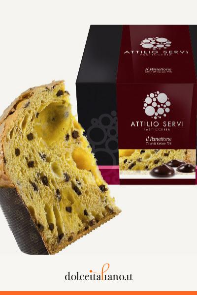 Panettone cuor di cacao 75% di Attilio Servi kg 1,00