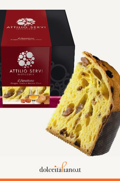 Panettone grappa, uvetta e marron glacè di Attilio Servi kg 1,00