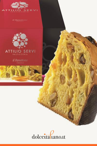 Panettone classico di Attilio Servi kg 1,00