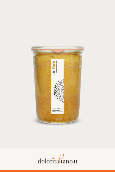 Invero panettone in vaso al gusto albicocca, cioccolato bianco, fava di Tonka e arancio di Denis Dianin kg 0,25