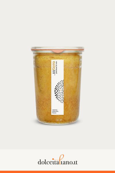Invero panettone in vaso al gusto amarena, pistacchio e limone di Denis Dianin kg 0,25