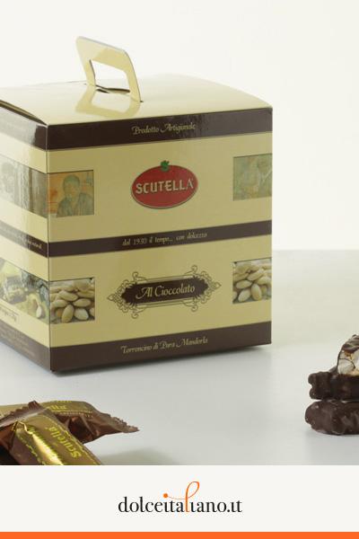 Torroncino mandorlato al cioccolato di Rocco Scutellà kg 0,50