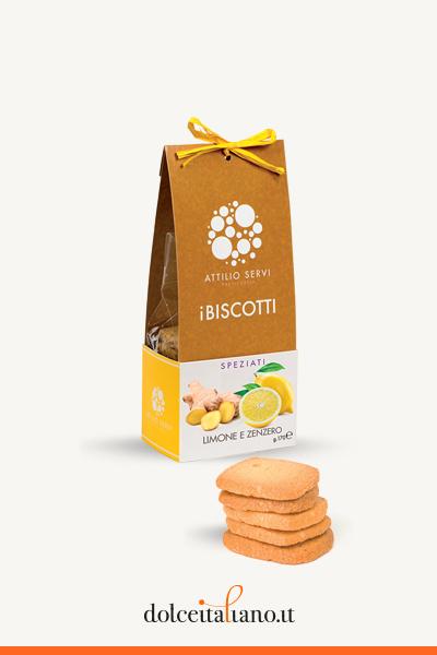 Biscotti limone e zenzero di Attilio Servi kg 0,17