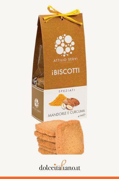Scatola contenente 6 confezioni di biscotti di Attilio Servi kg 1,00