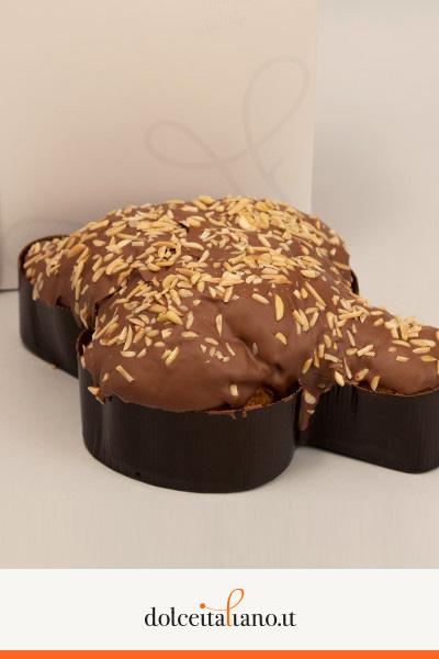 Colomba al cioccolato alla mandorla e albicocca di Roberto Cantolacqua kg 0,50