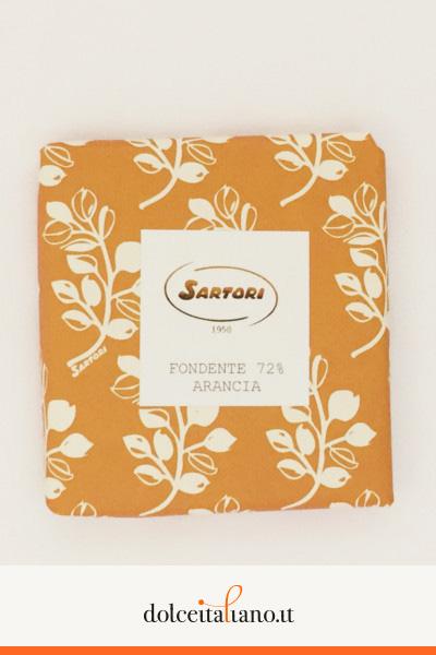 Cioccolato fondente 72% e arancia di Anna Sartori kg 0,10