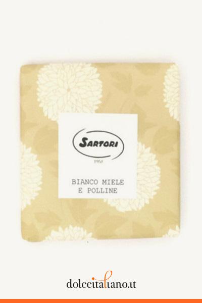 Cioccolato bianco con miele e polline di Anna Sartori kg 0,10