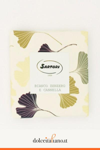 Cioccolato bianco con zenzero e cannella di Anna Sartori kg 0,10