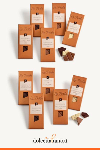 Assortimento 12 Tavolette di pregiato Cioccolato de La Perla di Torino kg 0,70