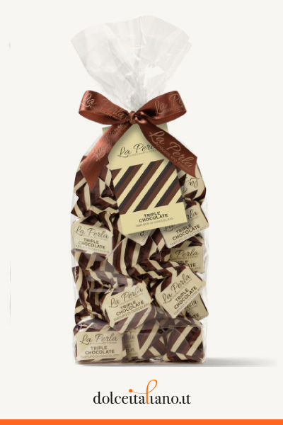 3 Sacchetti assortiti di Tartufi di Cioccolato: Le Novità de La Perla di Torino kg 0,60