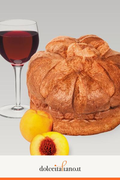 Panettone percoche e vino di Angelo Grippa kg 0,80