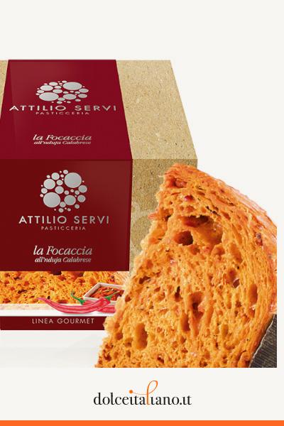 Focaccia all'nduja calabrese di Attilio Servi kg 0,00
