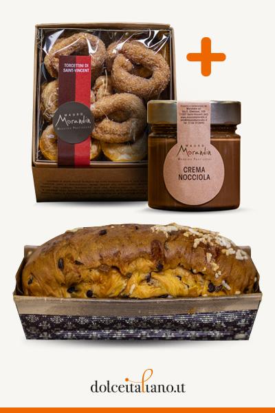 Colazione Day: Bauletto pere e cioccolato + Crema alle nocciole + Torcettini di Saint Vincent di Mauro Morandin
