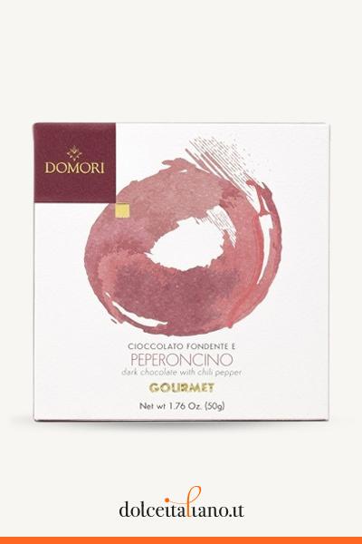 Tavoletta gourmet di cioccolato fondente con peperoncino di Domori