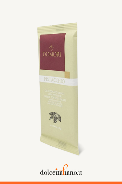White chocolate bar with pistachio by Domori