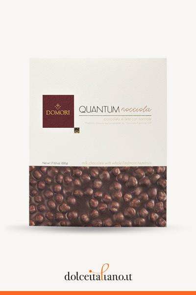 Quantum: tavoletta maxi cioccolato al latte e nocciole intere di Domori