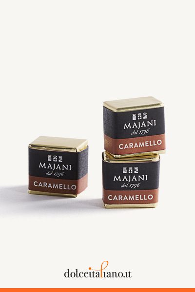 Pack of 100 Cremini Caramello by Majani 1796