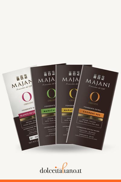 """4 Chocolate Bars """"Origini"""" by Majani 1796"""