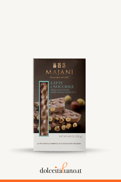 Snap - Milk chocolate & hazelnuts big bar by Majani 1796