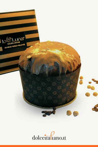 Panettone with milk chocolate, white chocolate and hazelnut by Davide Odore