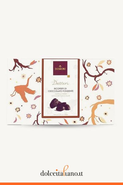 Datteri ricoperti di cioccolato fondente di Domori