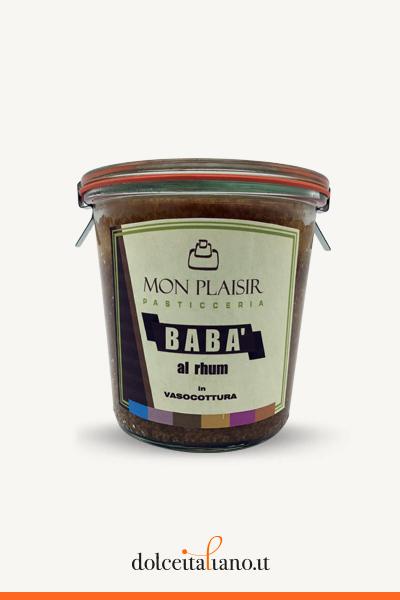 Babà in vaso cottura al rhum di Mon Plaisir