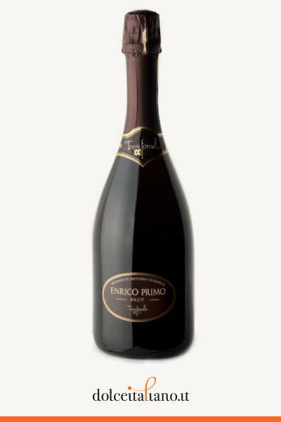 """Confezione da 6 bottiglie da 750cl di """"ENRICO PRIMO"""" Brut Spumante di qualità, Metodo Classico di Enrico Sgorbati"""
