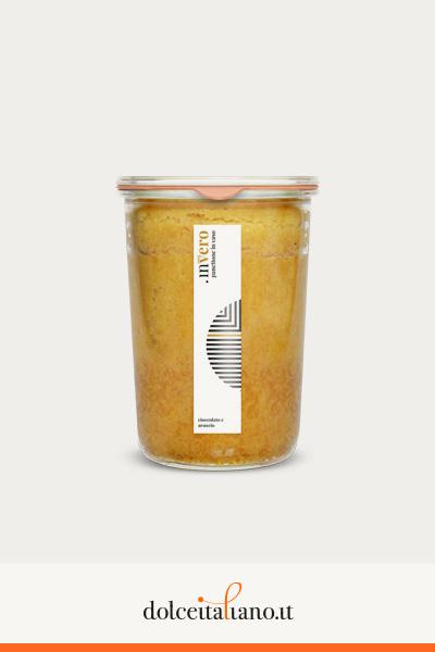 Invero panettone in vaso al gusto arancio e cioccolato di Denis Dianin