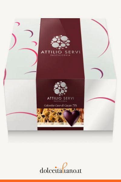 Colomba cuor di cacao 75% di Attilio Servi