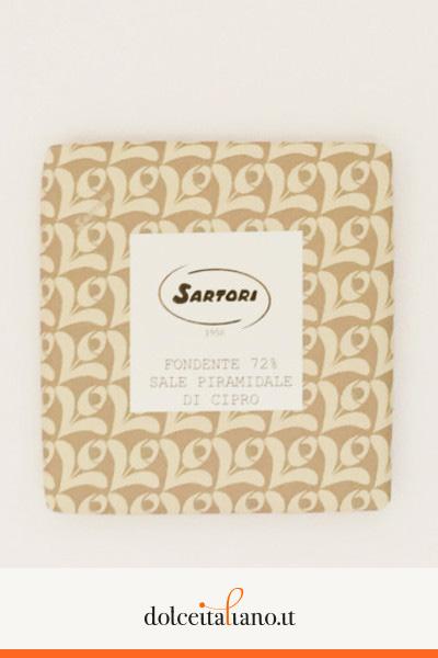 Cioccolato fondente 72% e sale piramidale di Anna Sartori