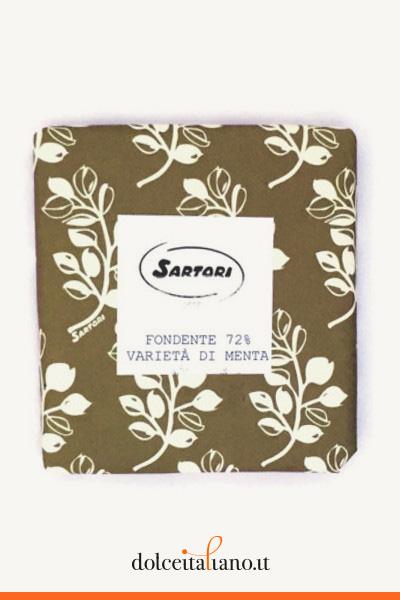 Cioccolato fondente 72% e varietà di menta di Anna Sartori