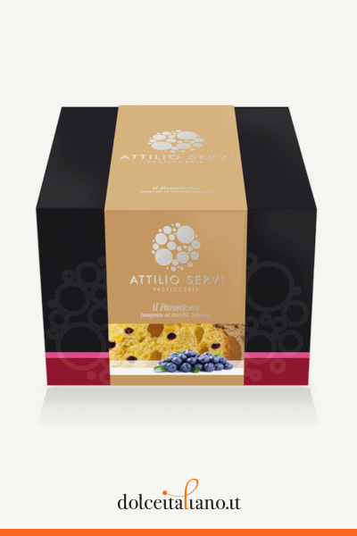 Panettone Whole Wheat with Blueberries by Attilio Servi