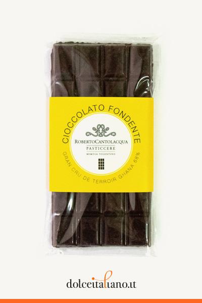 Cioccolato Fondente Gran Cru De Terroir Ghana 68% di Roberto Cantolacqua