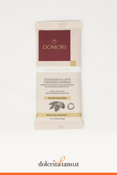 Tavoletta di cioccolato gianduja al latte di Domori