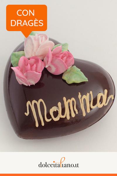Cuore di cioccolato fondente ripieno di dragés di Mauro Morandin