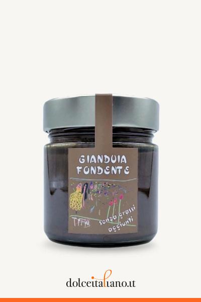 Crema spalmabile al gianduia fondente di Cioccolato Colle