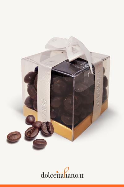 Dragées - chicchi di caffè ricoperti con cioccolato fondente di Dolcezza Firenze