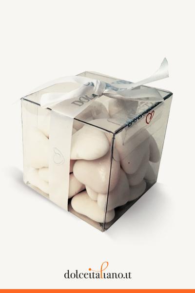 Confetti a forma di cuore bianchi