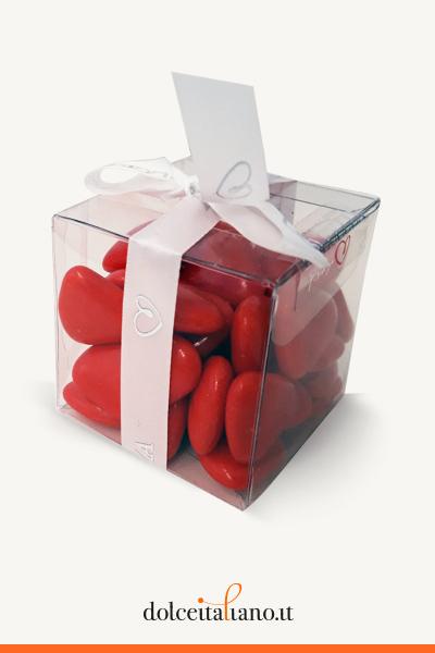 Confetti a forma di cuore rossi