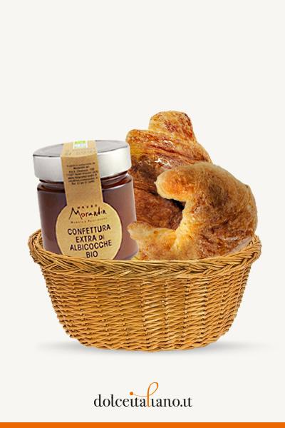 Box Colazione: 4 Croissant + Confettura di Albicocche Bio di Mauro Morandin
